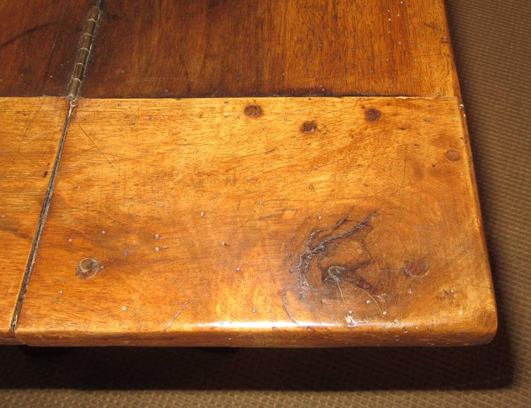 19th Century French Country Solid Ash Trestle Writing Table For Sale