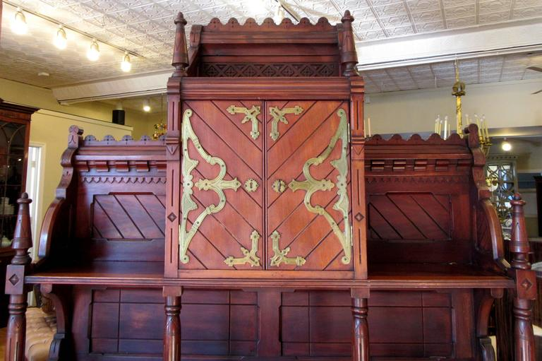 Victorian Gothic Revival Buffet in the Manner of Architect E. Edwards Ficken 3