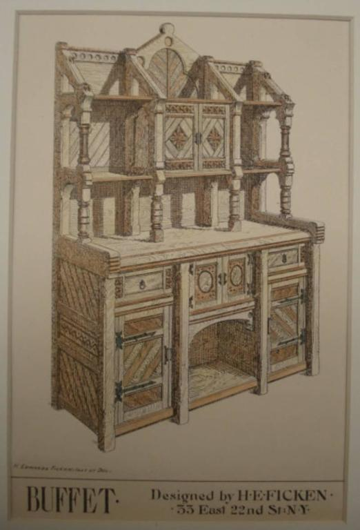 Victorian Gothic Revival Buffet in the Manner of Architect E. Edwards Ficken 6