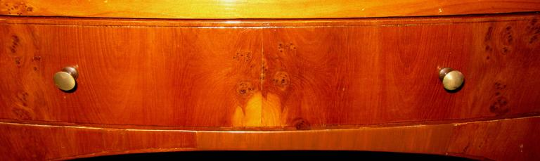 Pair of 19th Century Flame Mahogany End/Bedside Tables For Sale 1
