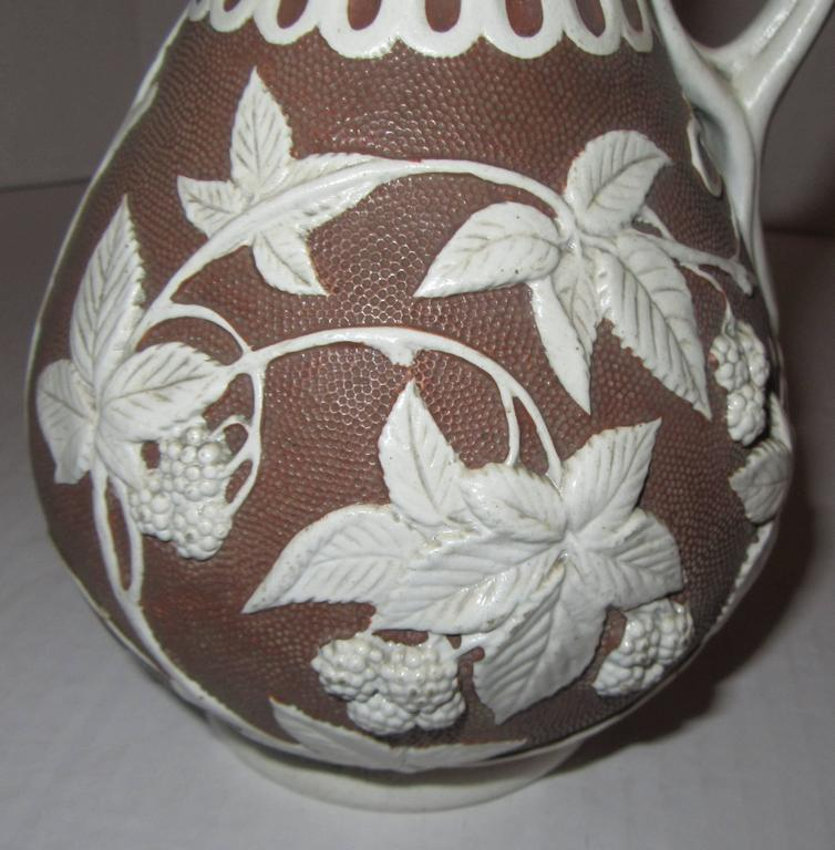 19th Century English Parian Ware Pitcher In Excellent Condition For Sale In Mt Kisco, NY