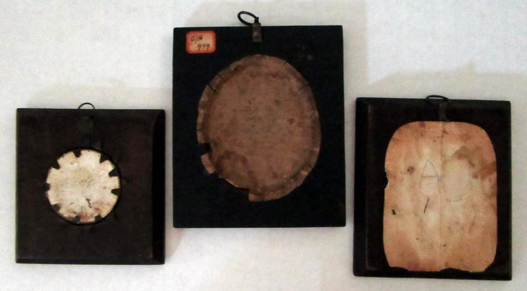 Three nicely framed miniature portraits from the early 19th century.