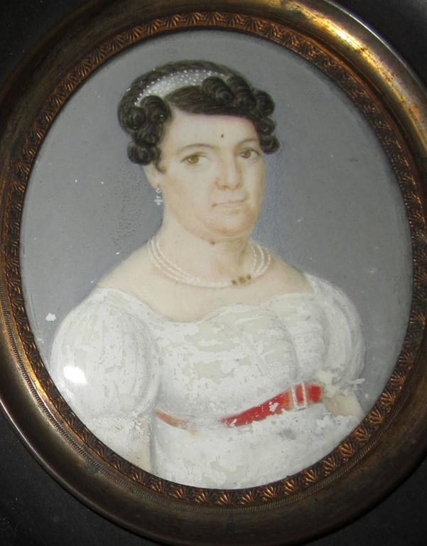 19th Century Group of Three Regency Period Miniature Portraits of Ladies For Sale