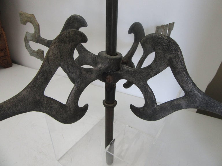 19th Century American Copper Trotting Horse Weathervane with Directionals For Sale