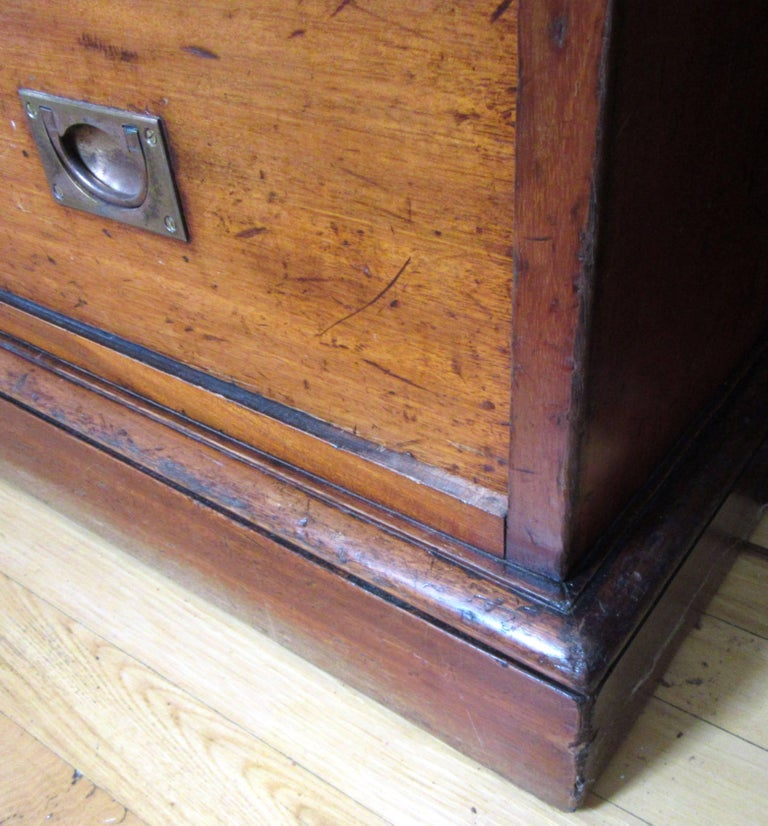 19th Century Campaign Chest with Upper Cabinet For Sale 2