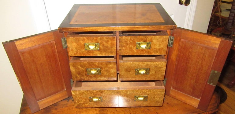 Baltic Karelian Birchwood Collectors Chest In Good Condition For Sale In Mt Kisco, NY