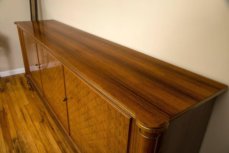 Mid-Century Modern Jules Leleu Palisander Parquetry Credenza For Sale