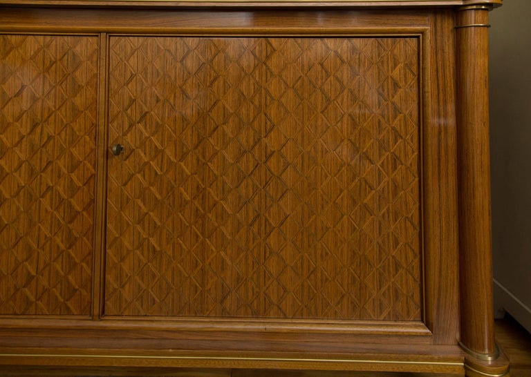 French Jules Leleu Palisander Parquetry Credenza For Sale