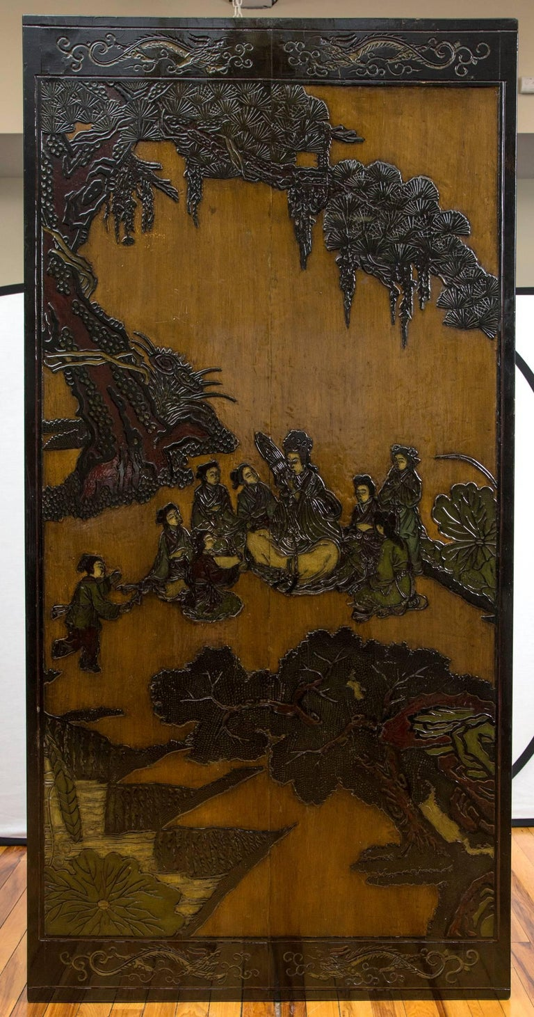 Chinese Export 19th Century Chinese Coromandel Panels as Coffee Table For Sale