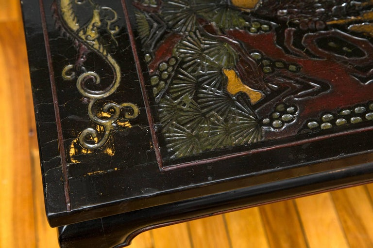 19th Century Chinese Coromandel Panels as Coffee Table For Sale 1