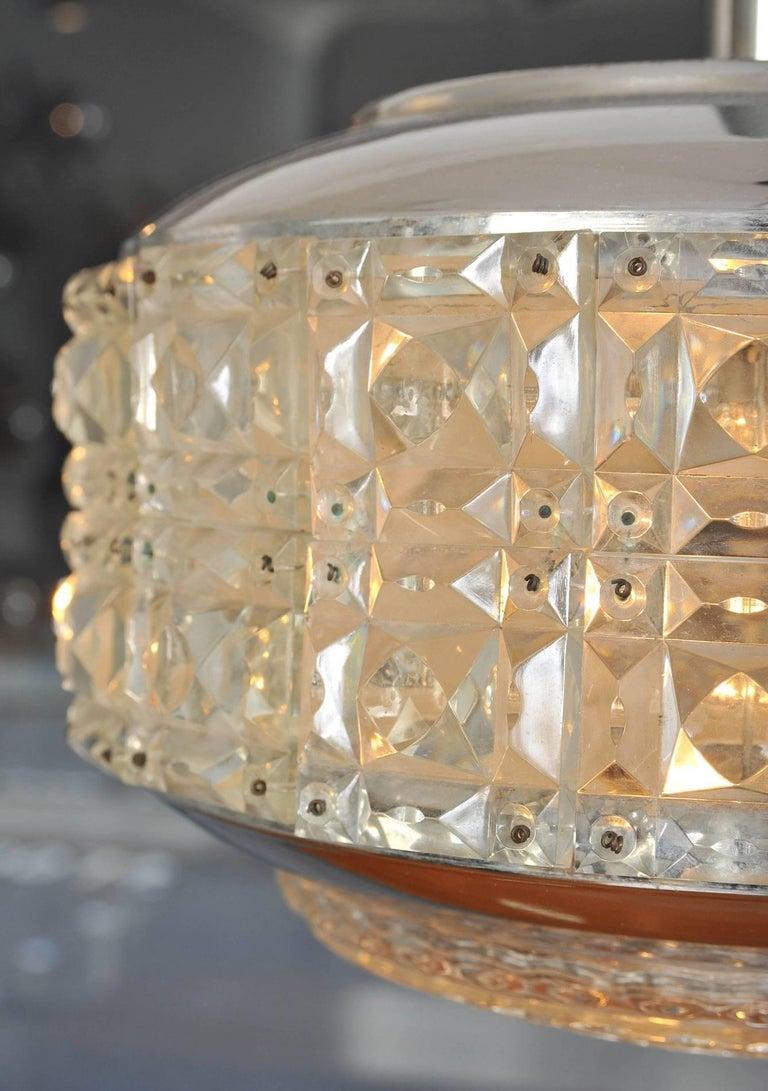 Mid-Century Modern 1970s Italian 'Diamonds' Chandelier For Sale