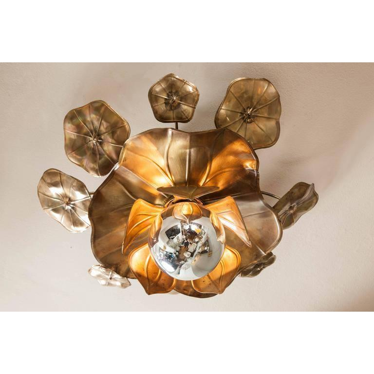 Mid-Century Modern Lotus Flower Ceiling Lights For Sale