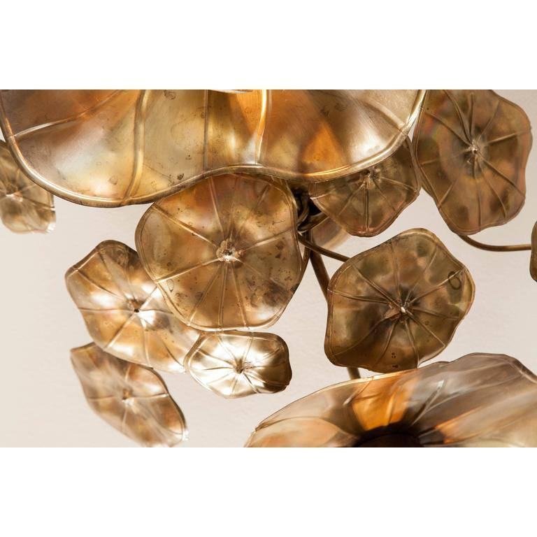 Contemporary Lotus Flower Ceiling Lights For Sale