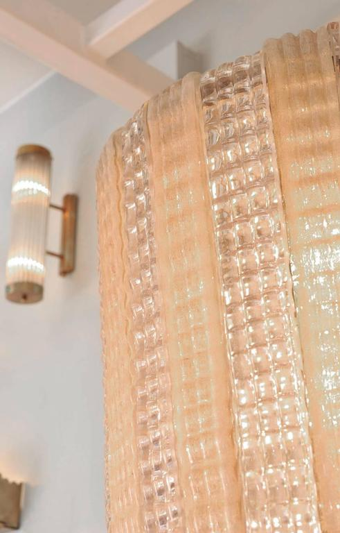 Italian 1950s Pink Glass Chandelier For Sale At 1stdibs