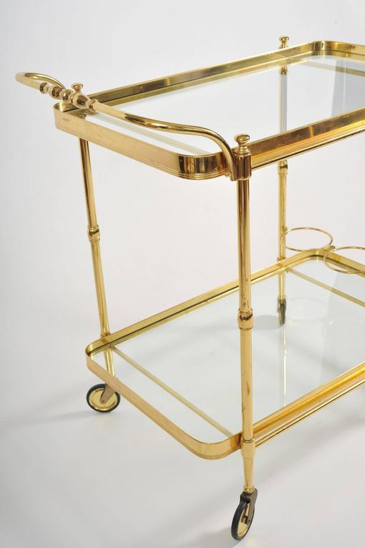 Mid-20th Century 1950s Italian Brass Drinks Trolley