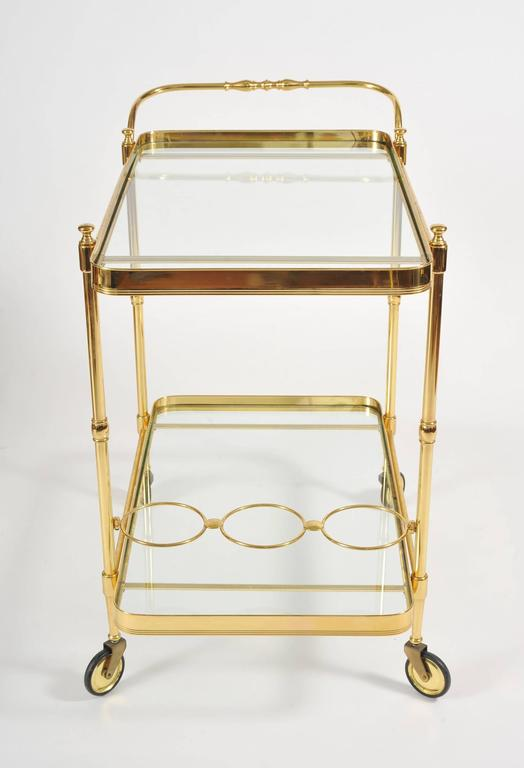 1950s Italian Brass Drinks Trolley In Excellent Condition In London, GB