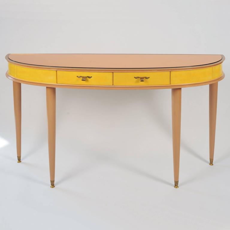 Unusual 1950s Italian Demilune Sideboard or Vanity-Table 2