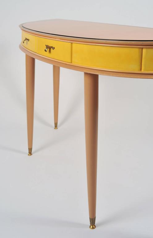 Unusual 1950s Italian Demilune Sideboard or Vanity-Table 4