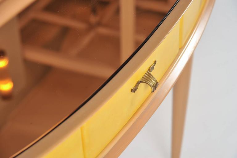 Unusual 1950s Italian Demilune Sideboard or Vanity-Table 6
