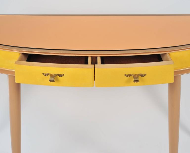 Unusual 1950s Italian Demilune Sideboard or Vanity-Table 5