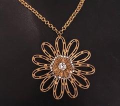 Miriam Haskell Jeweled Flower Pendant