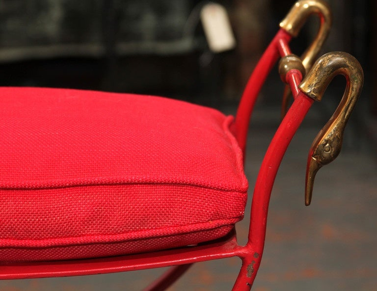 Red Italian Bench 2