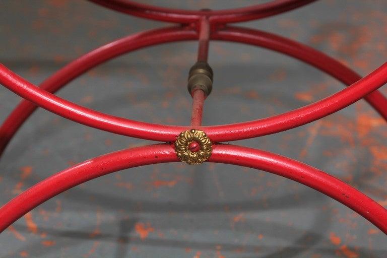 Red Italian Bench 3