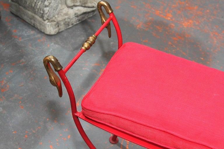 Red Italian Bench 4