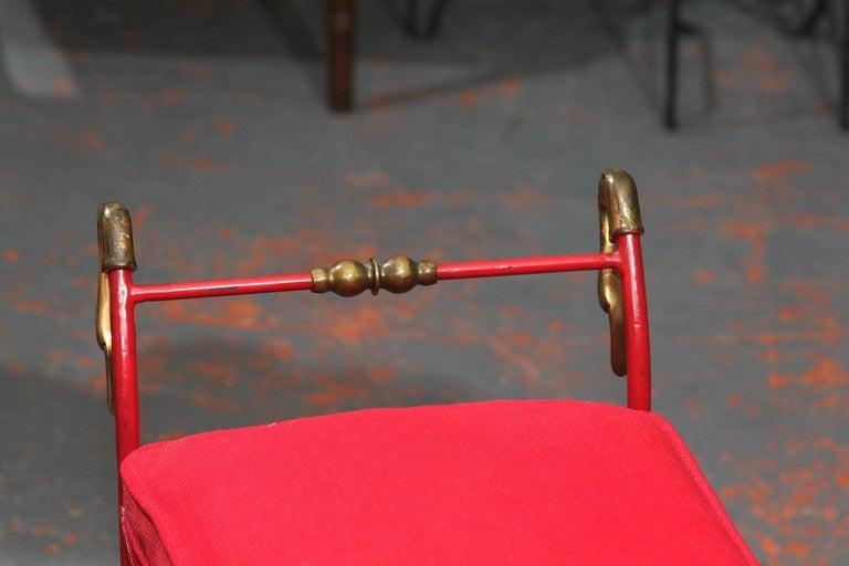 Red Italian Bench 6