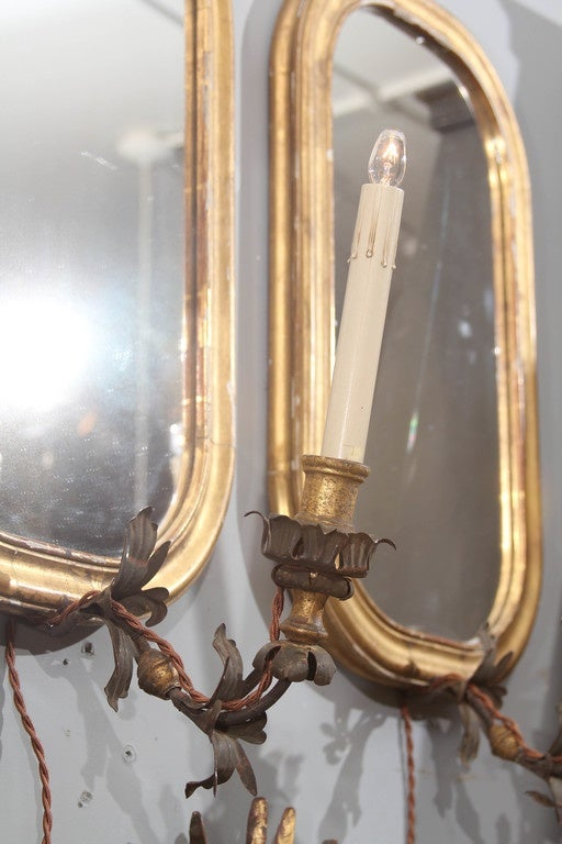 Pair of Mirror Sconces 2