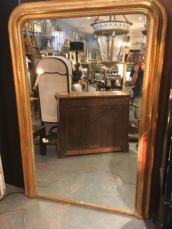 Grand French Floor Mirror For Sale 2