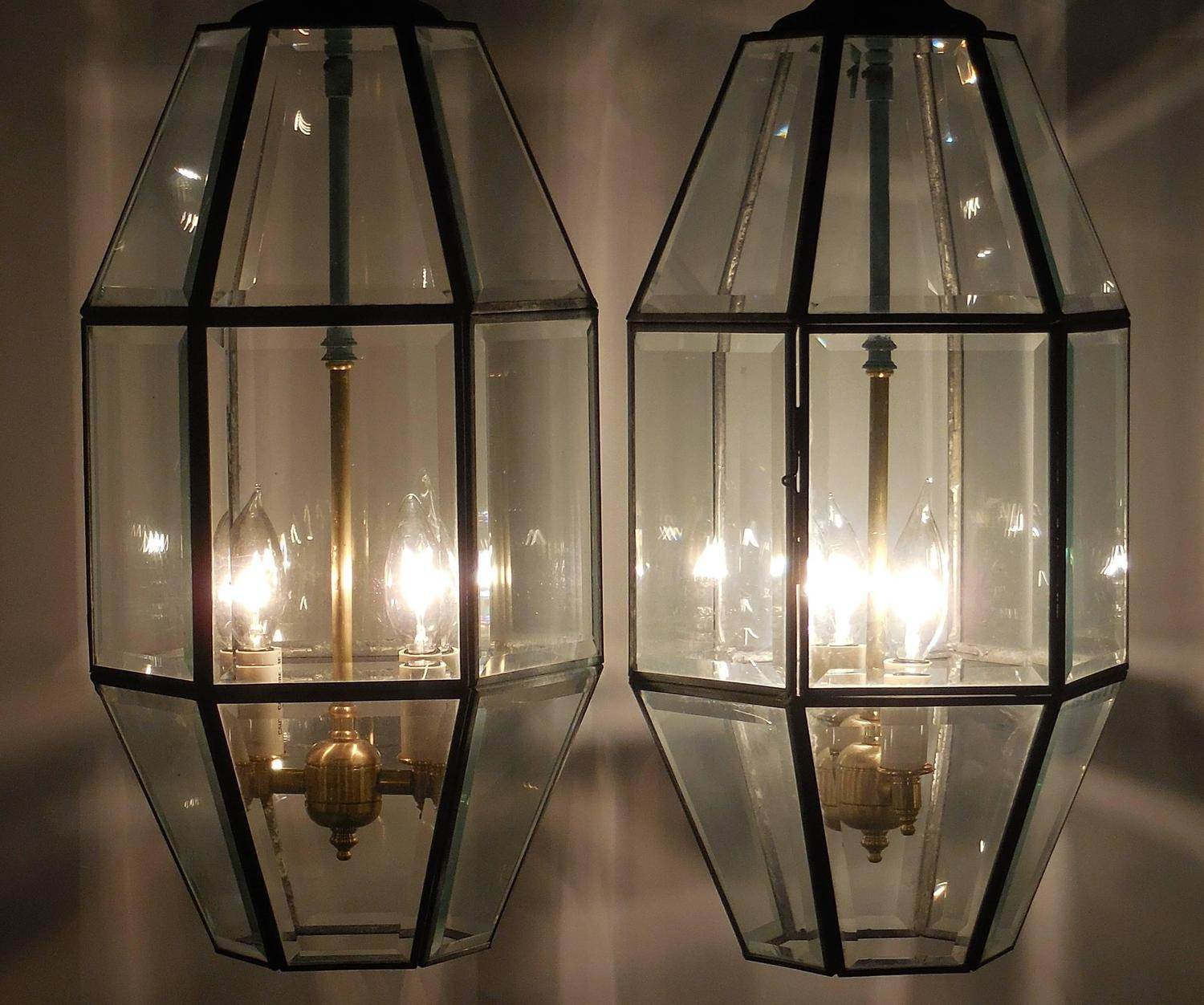 New Acura Dealership In Delray Beach Fl 33483: Pair Of Vintage Brass Hanging Lanterns At 1stdibs