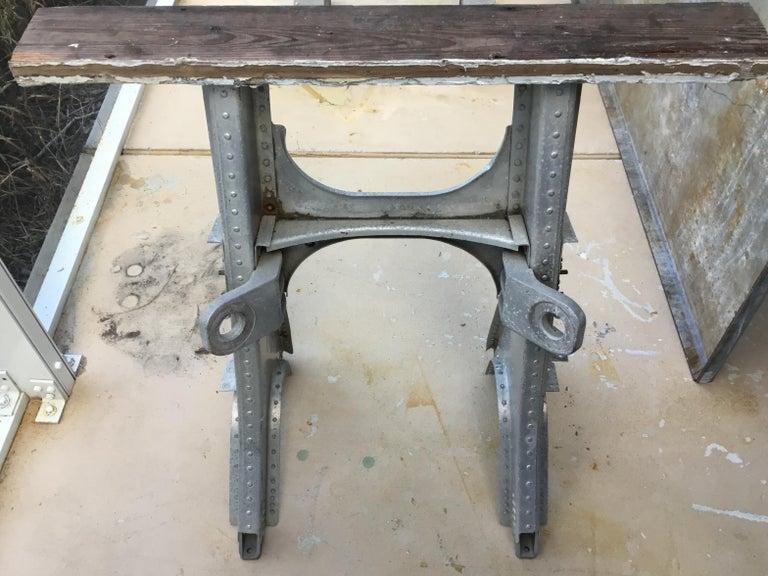 American Vintage Rustic Industrial Work Table For Sale