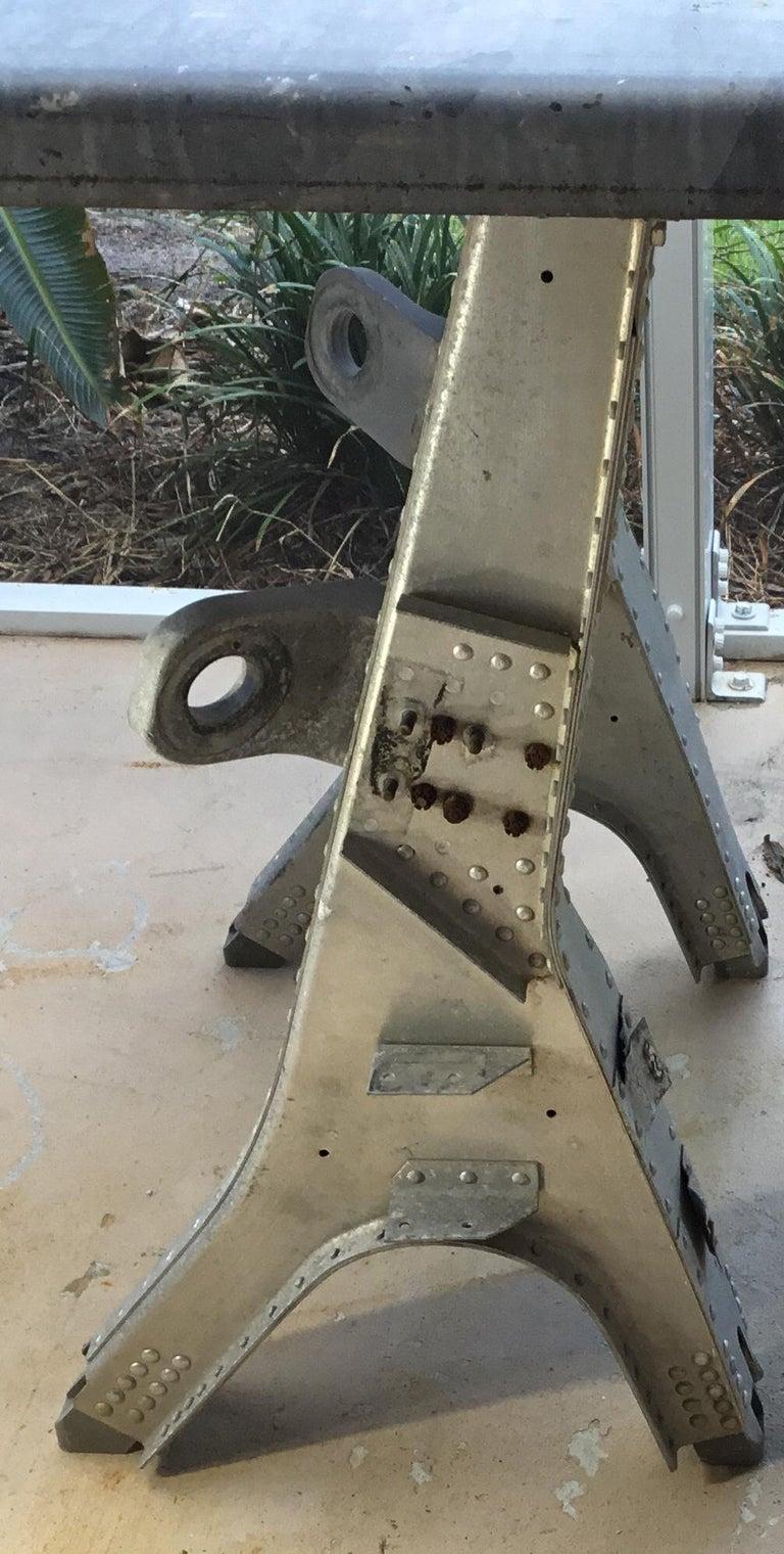 Steel Vintage Rustic Industrial Work Table For Sale