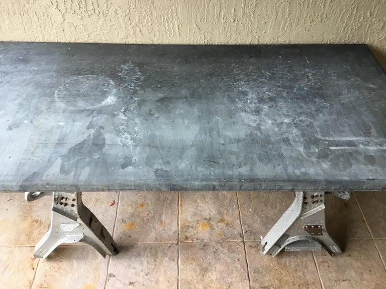 Vintage Rustic Industrial Work Table For Sale 11