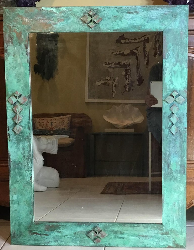 American One of a Kind Bronze Mirror For Sale