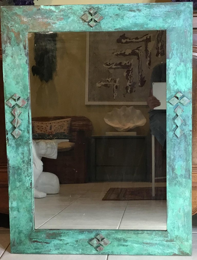 One of a Kind Bronze Mirror In Good Condition For Sale In Delray Beach, FL