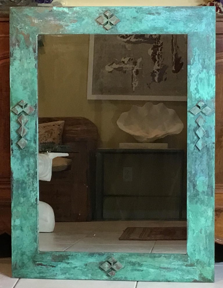 One of a Kind Bronze Mirror For Sale 5