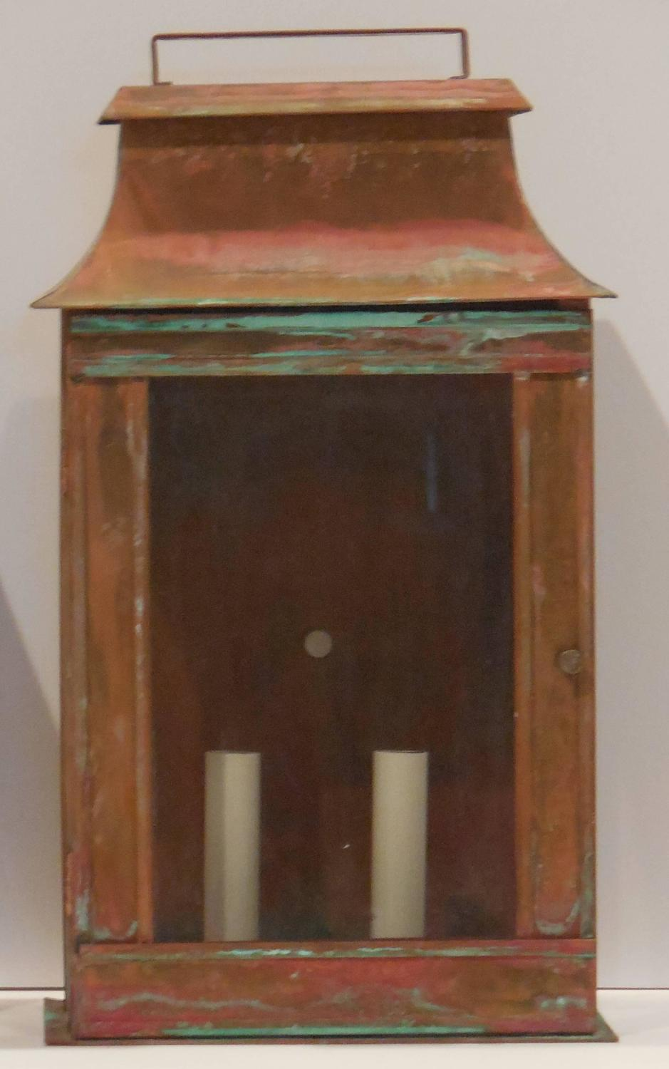 Wall Copper Lantern : Pair of architectural wall copper lantern at 1stdibs