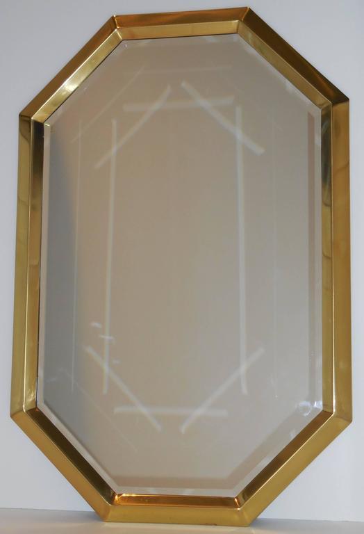 French Beautiful Geometric Hexagon Mirror For Sale