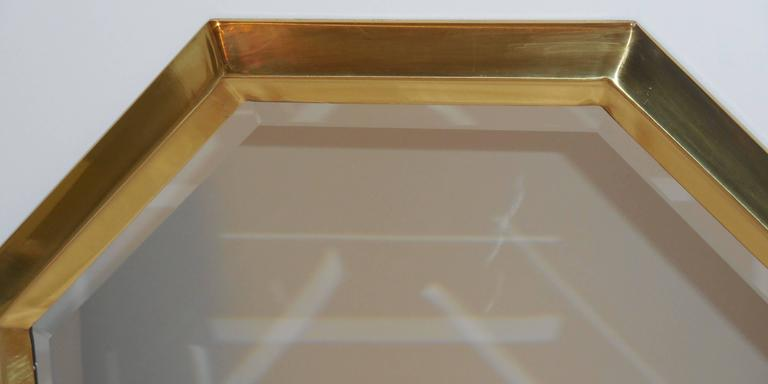 Beautiful Geometric Hexagon Mirror For Sale 1