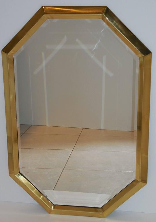 Beautiful Geometric Hexagon Mirror For Sale 2