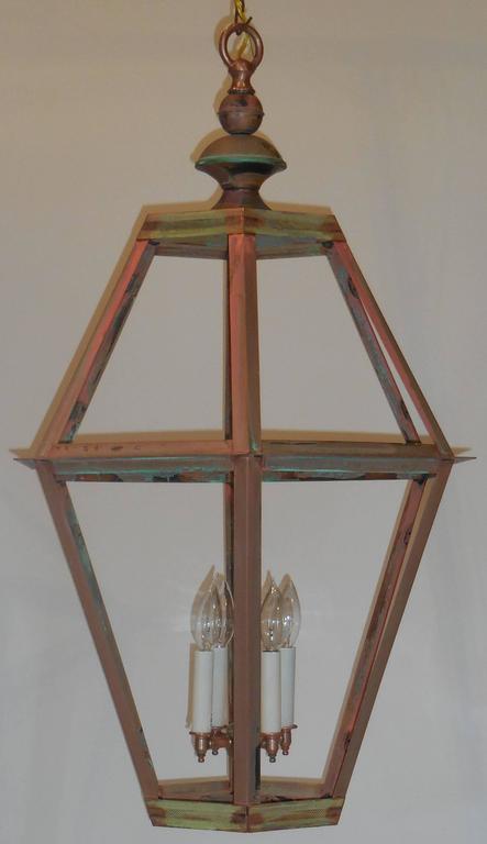 20th Century Large Copper Lantern For Sale
