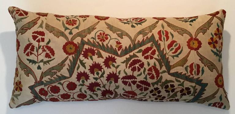 Large Embroidery Suzani Pillow For Sale 4