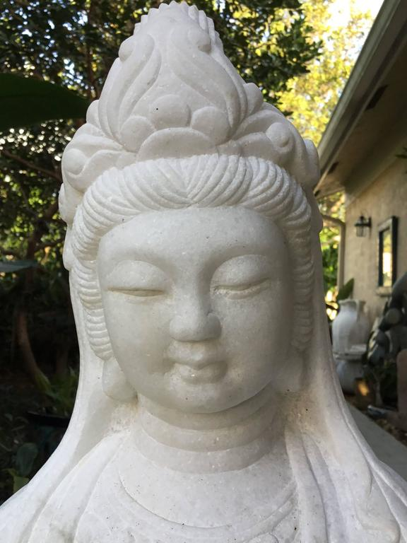 Exceptionally Large Marble Buddha For Sale 4