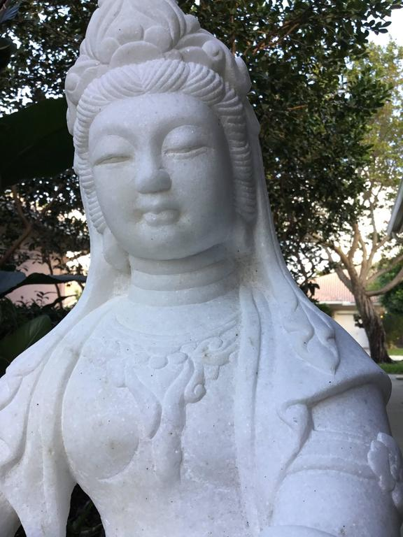 Chinese Exceptionally Large Marble Buddha For Sale