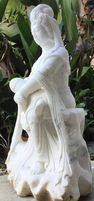 Exceptionally Large Marble Buddha For Sale 2