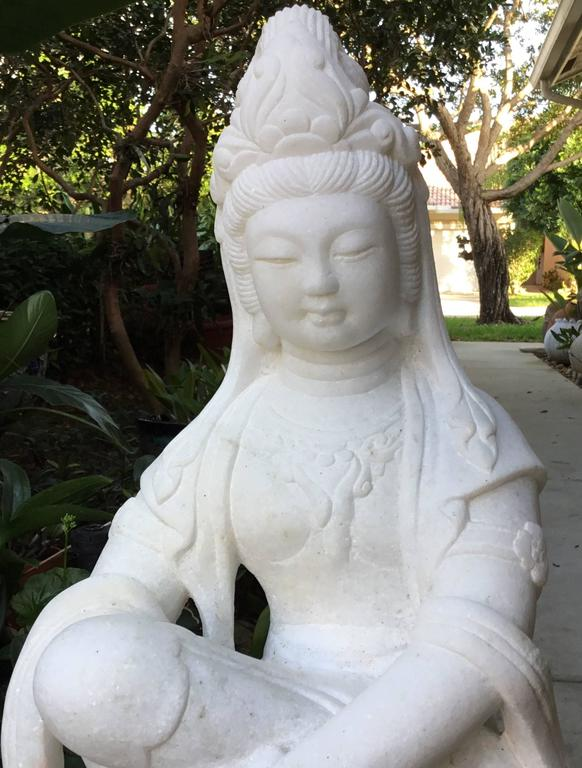 Exceptionally Large Marble Buddha For Sale 3