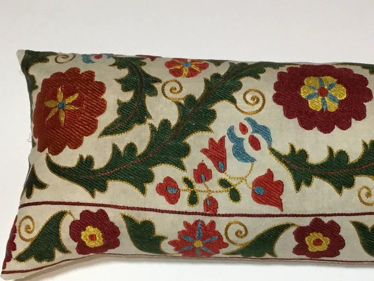 Hand Embroidery Suzani Pillow In Good Condition For Sale In Delray Beach, FL