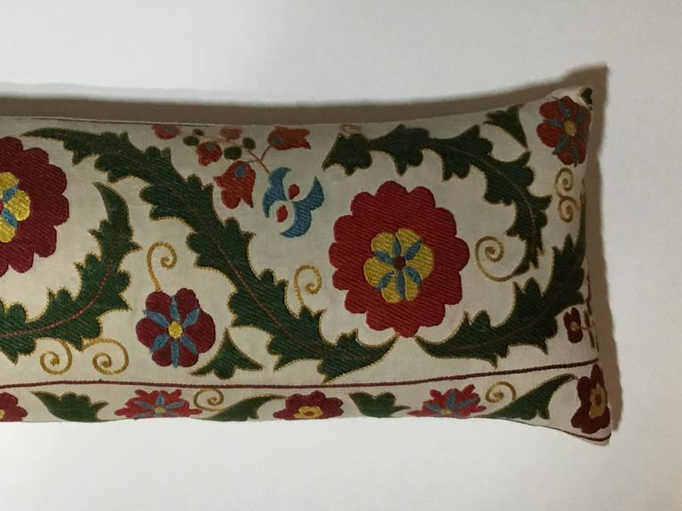 20th Century Hand Embroidery Suzani Pillow For Sale